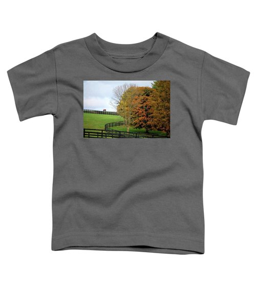 Horse Farm Country In The Fall Toddler T-Shirt