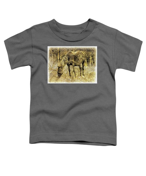 Horse Grazing On Pasture 2 Toddler T-Shirt