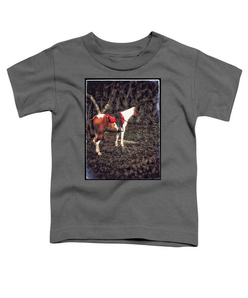 Horse In Red Toddler T-Shirt