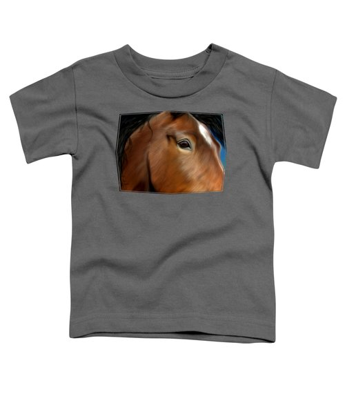 Horse Portrait Close Up Toddler T-Shirt