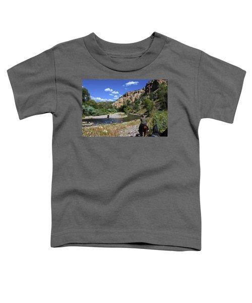 Horseback In The Gila Wilderness Toddler T-Shirt