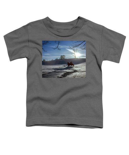 Horses In The Snow Toddler T-Shirt