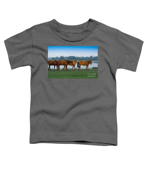 Horses On The Walk Toddler T-Shirt