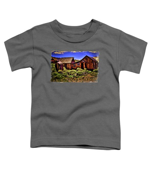 House, Shed And Outhouse Bodie Ghost Town Toddler T-Shirt