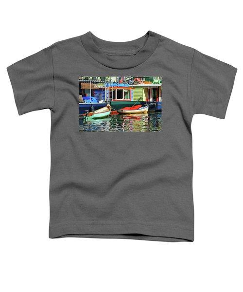 Houseboats 4 - Lake Union - Seattle Toddler T-Shirt