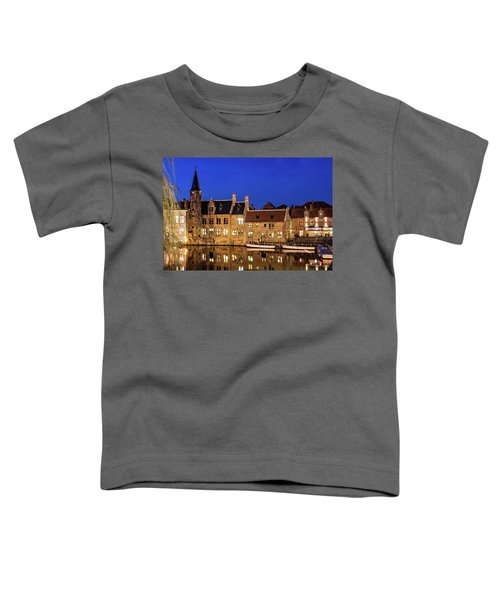 Houses By A Canal - Bruges, Belgium Toddler T-Shirt