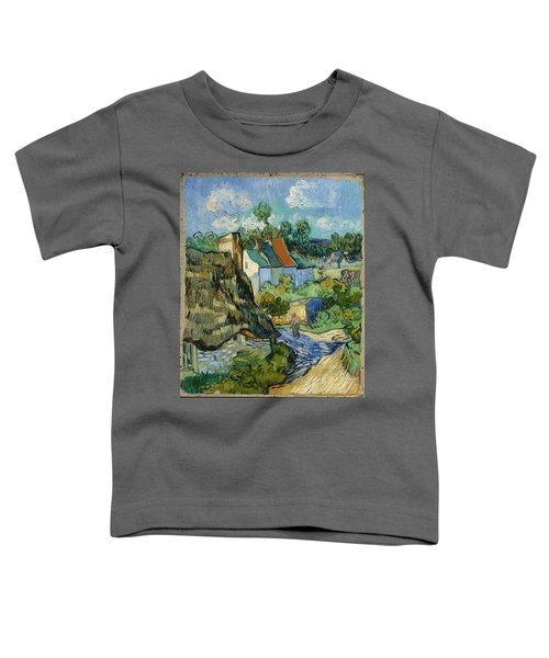 Toddler T-Shirt featuring the painting Houses In Auvers by Van Gogh