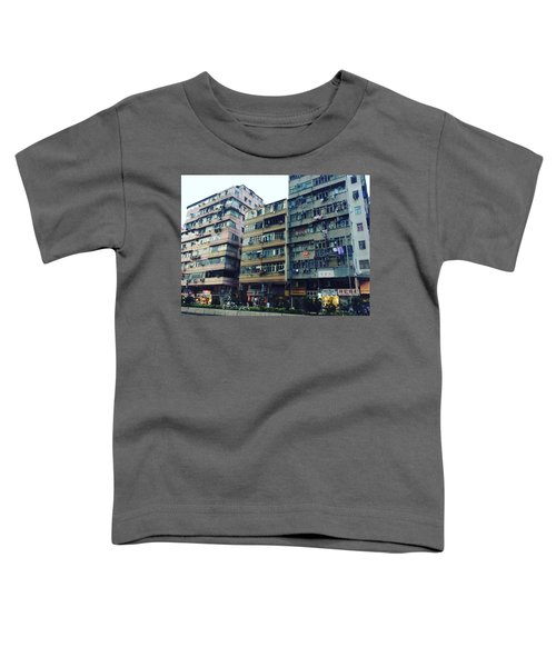Houses Of Kowloon Toddler T-Shirt by Florian Wentsch