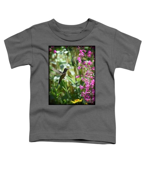 Hummingbird On Perry's Penstemon Toddler T-Shirt