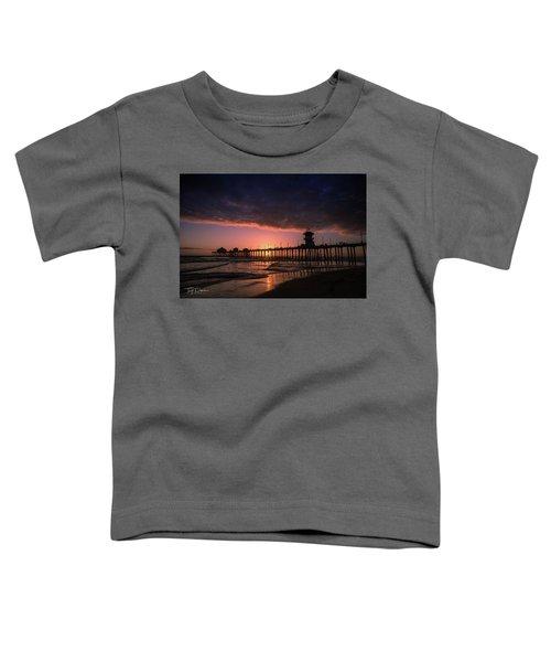 Huntington Pier At Sunset Toddler T-Shirt