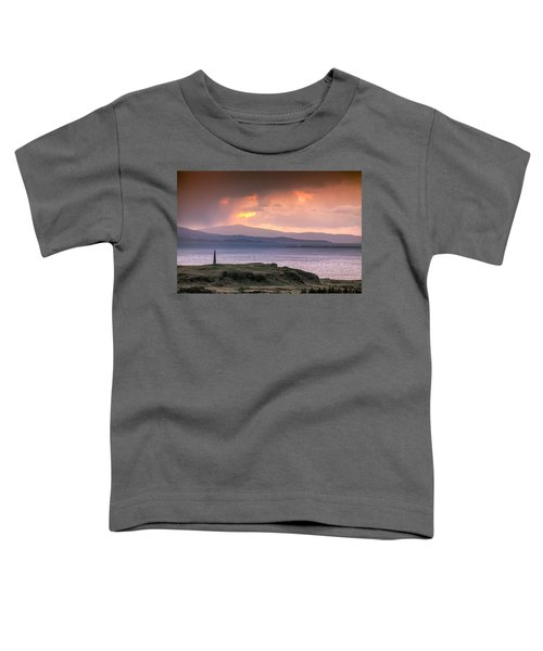 Hutcheson's Monument On The Isle Of Kerrera At Sunset Toddler T-Shirt