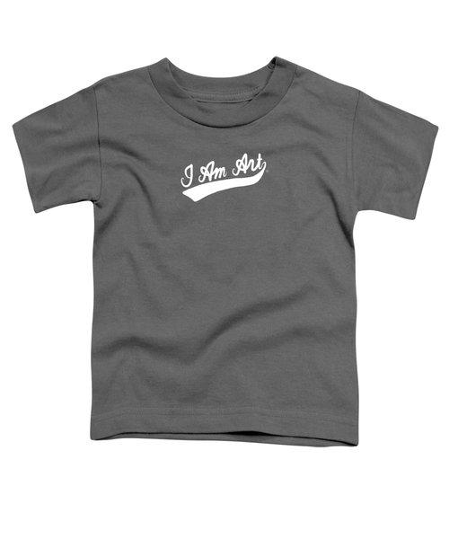 I Am Art Swoosh- Art By Linda Woods Toddler T-Shirt