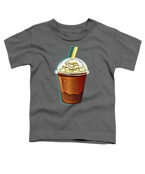 Iced Coffee To Go Pattern Toddler T-Shirt