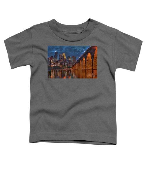 Iconic Minneapolis Stone Arch Bridge Toddler T-Shirt