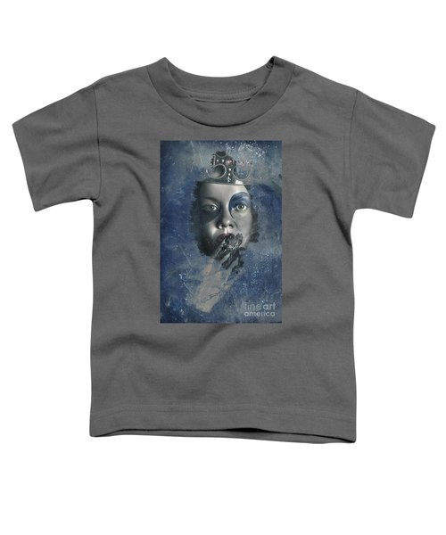 Icy Window Reflection. Wicked Queen Of Winter Toddler T-Shirt
