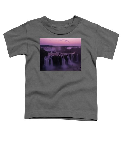Iguazu Sunset In Violet Toddler T-Shirt