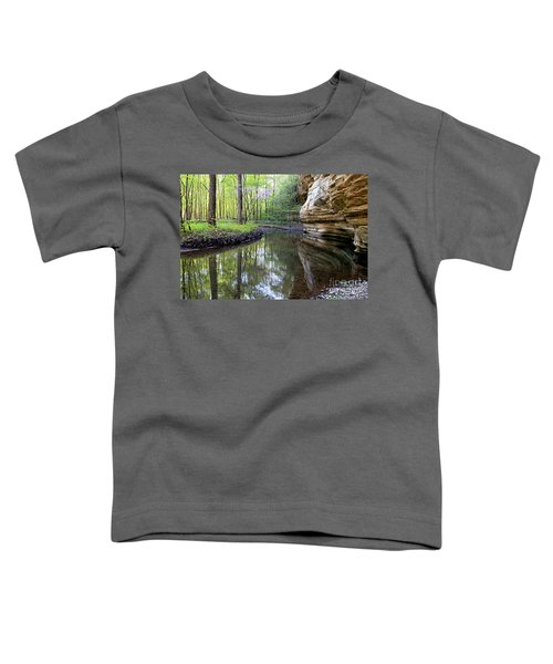 Illinois Canyon In Spring Starved Rock State Park Toddler T-Shirt
