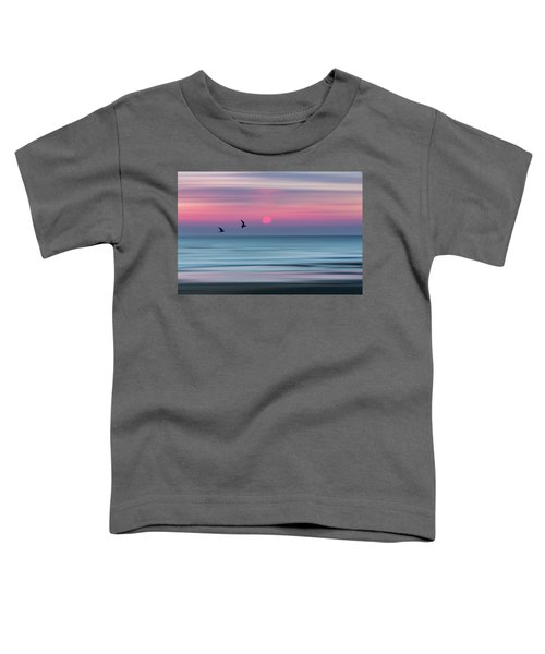 Impressionistic Sunset At Widemouth Bay, Bude, Cornwall, Uk.  Toddler T-Shirt