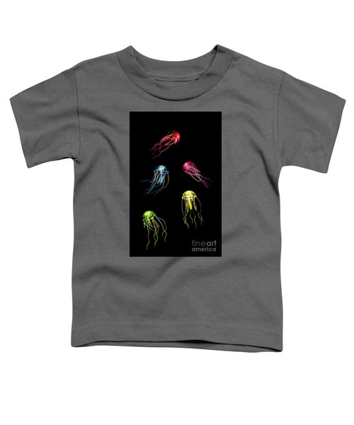 In Colours Of Swirling Jellyfishes  Toddler T-Shirt