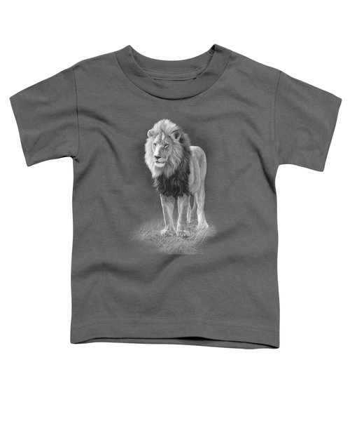 In His Prime - Black And White Toddler T-Shirt by Lucie Bilodeau
