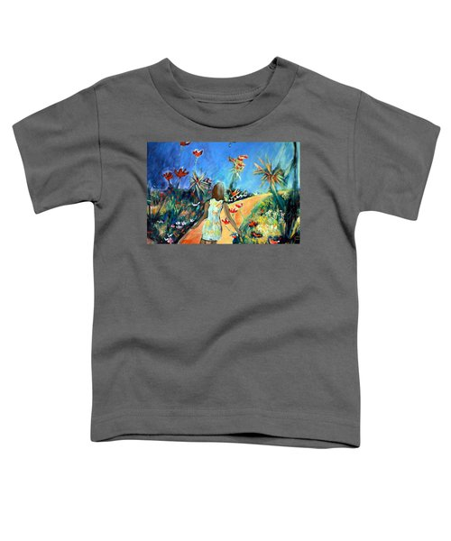 In The Garden Of Joy Toddler T-Shirt by Winsome Gunning