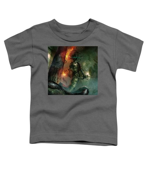 In The Lair Of The Gorgon Toddler T-Shirt by Ryan Barger