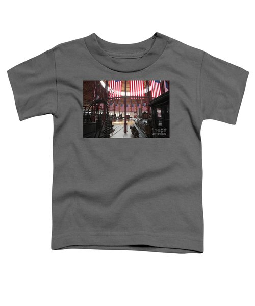 In The Roundhouse At The B And O Railroad Museum In Baltimore Toddler T-Shirt