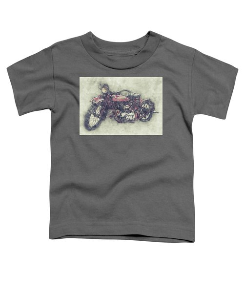 Indian Chief 1 - 1922 - Vintage Motorcycle Poster - Automotive Art Toddler T-Shirt