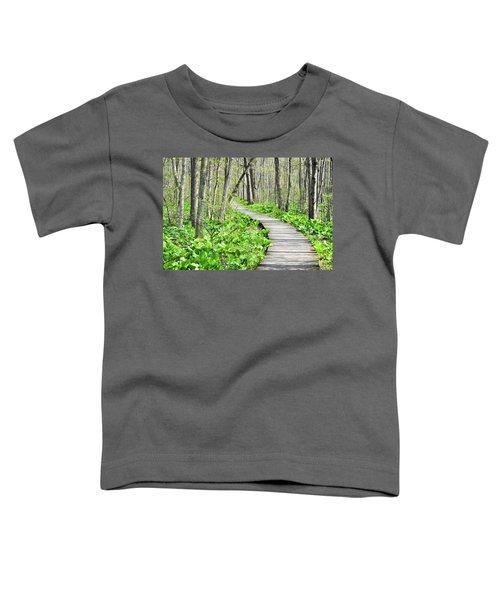 Indiana Dunes Great Green Marsh Boardwalk Toddler T-Shirt
