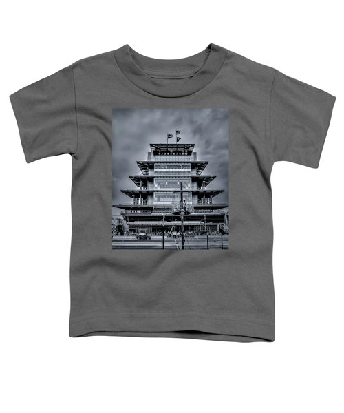 Indy 500 Pagoda - Black And White Toddler T-Shirt
