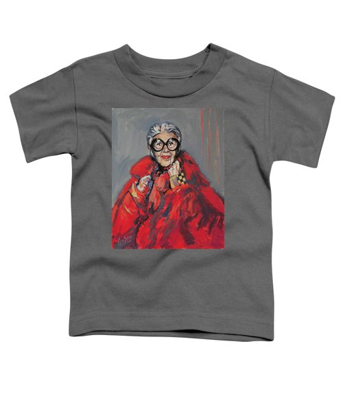 Iris Apfel Style Icon Toddler T-Shirt by Nop Briex