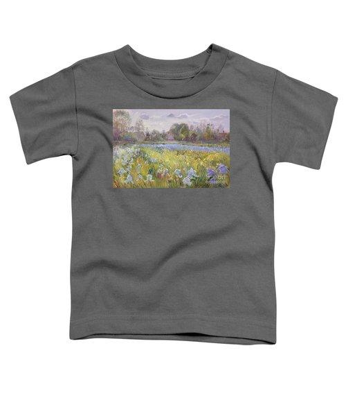 Iris Field In The Evening Light Toddler T-Shirt