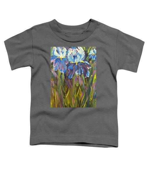 Iris Floral Garden Toddler T-Shirt