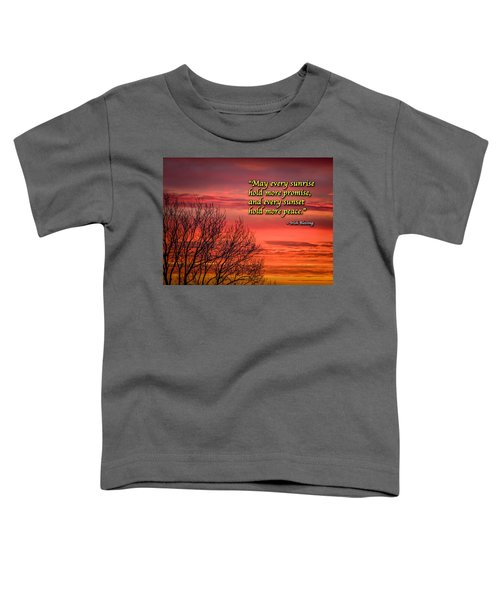 Toddler T-Shirt featuring the photograph Irish Blessing - May Every Sunrise... by James Truett