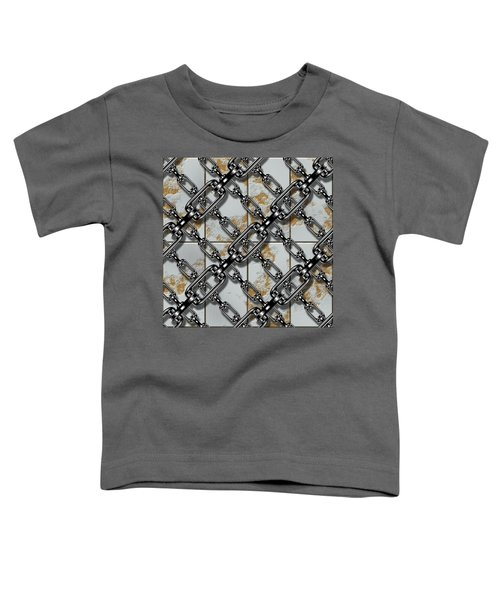 Iron Chains With Rusty Metal Panels Seamless Texture Toddler T-Shirt