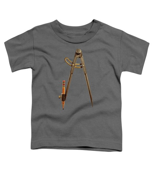 Iron Compass Back On Black Toddler T-Shirt