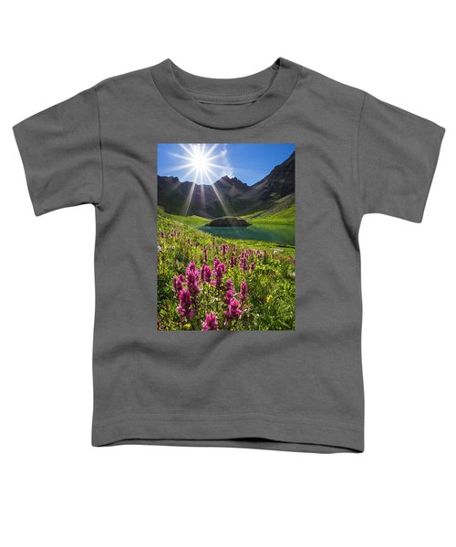 Island Lake Flowers Toddler T-Shirt