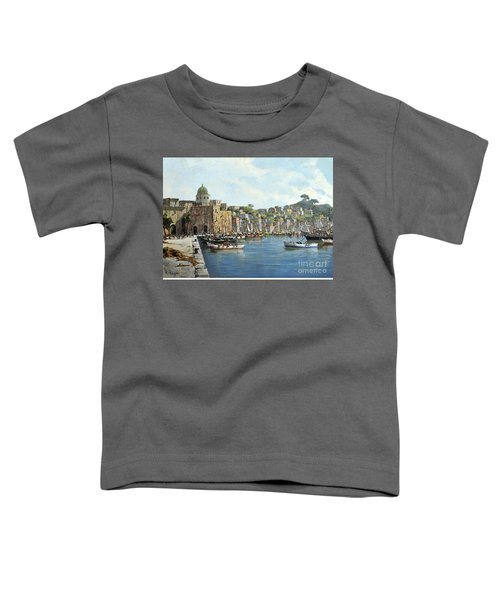 Island Of Procida - Italy- Harbor With Boats Toddler T-Shirt