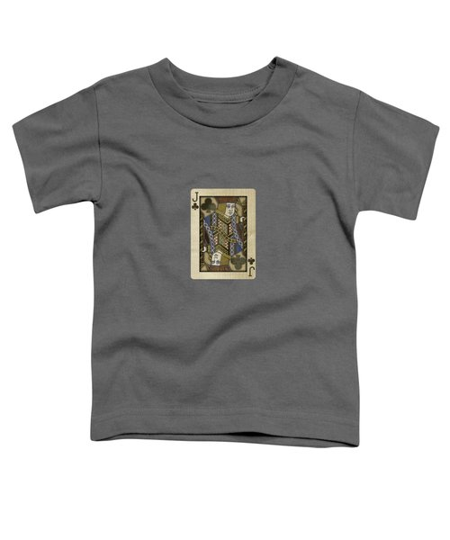 Jack Of Clubs In Wood Toddler T-Shirt