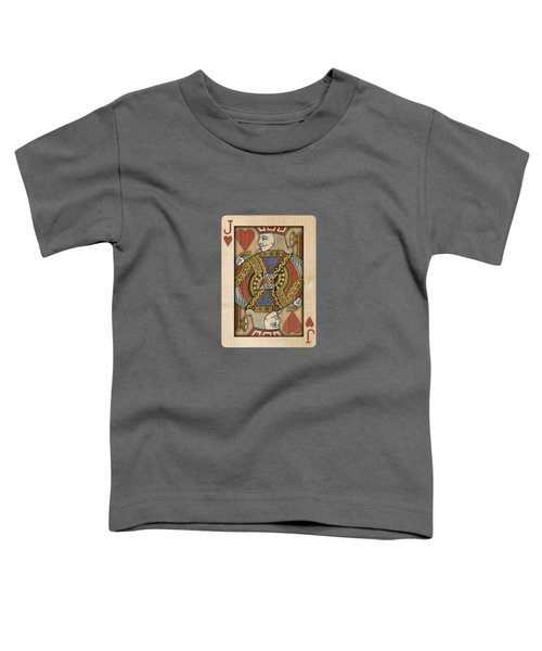 Jack Of Hearts In Wood Toddler T-Shirt
