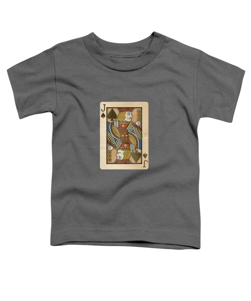 Jack Of Spades In Wood Toddler T-Shirt