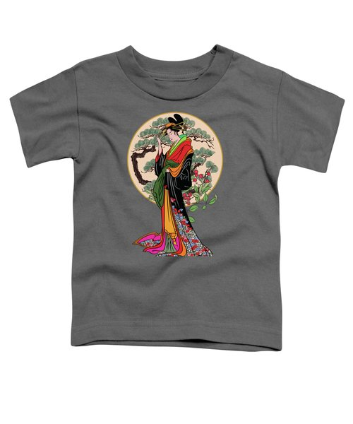 Japanese Girl With A Landscape In The Background. Toddler T-Shirt
