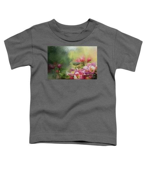 Japanese White-eye On A Blooming Tree Toddler T-Shirt