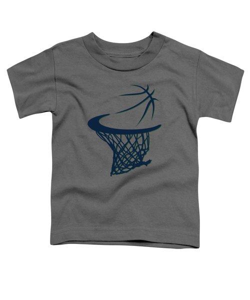 Jazz Basketball Hoop Toddler T-Shirt