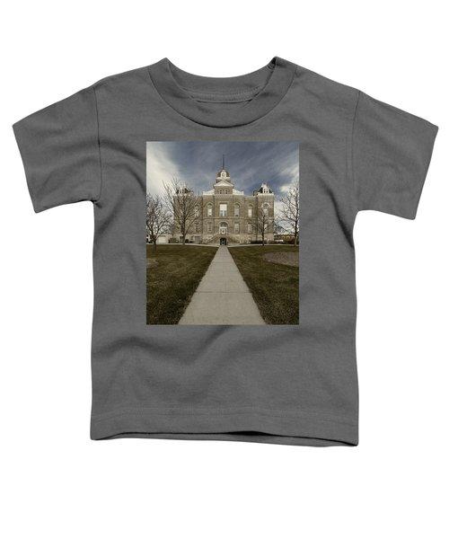 Jefferson County Courthouse In Fairbury Nebraska Rural Toddler T-Shirt
