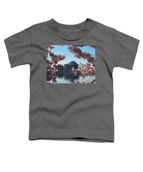 Jefferson Memorial At Cherry Blossom Time On The Tidal Basin Ds008 Toddler T-Shirt
