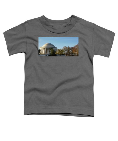 Jefferson Memorial Toddler T-Shirt by Megan Cohen