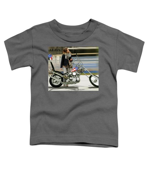 Jessica Alba, Captain America, Easy Rider Toddler T-Shirt