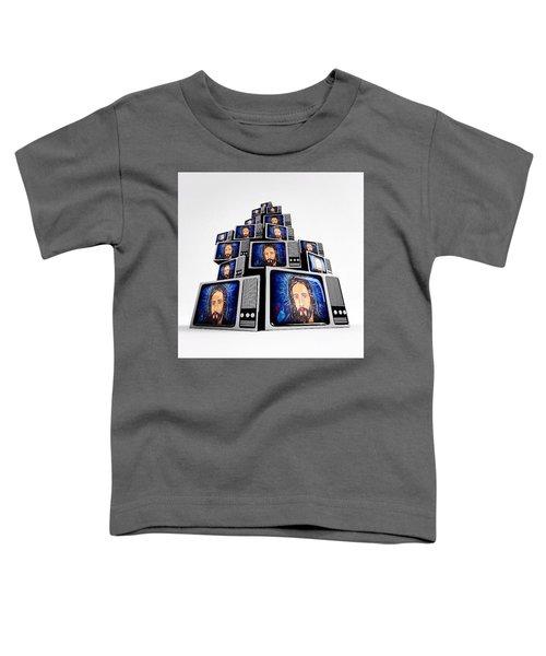 Jesus On Tv Toddler T-Shirt