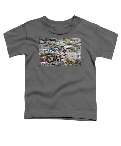 Toddler T-Shirt featuring the photograph Jesus Saves by Andrea Platt